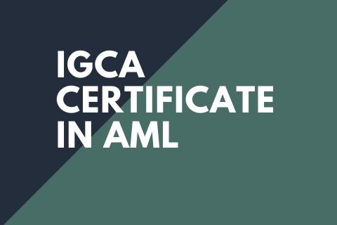 AML IGCA Certificate
