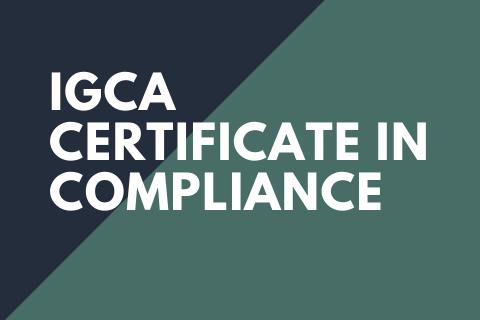 IGCA Compliance Certificate